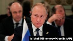 Президент России Владимир Путин на саммите G20 в Буэнос-Айресе, 30 ноября 2018 года
