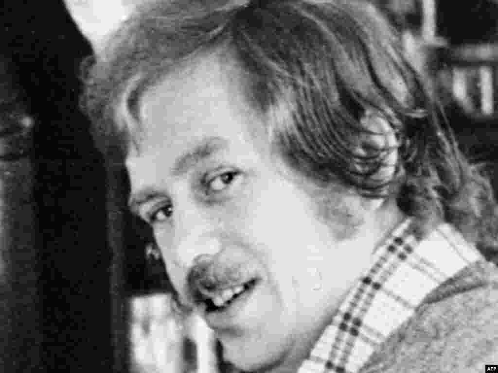 Havel at his cottage in Hradecek in the early 1970s