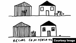 "Desen de Dan Perjovschi - ""Recurs compensatoriu"""