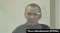 Руслан Гинатуллин в суде по делу о «создании транснациональной преступной группировки» и «разжигании розни». Павлодар, 13 декабря 2016 года.