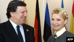 Жозе Мануел Баррозу і Юлія Тимошенко в Києві, фото 19 квітня 2011 року