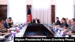 Afghan President Ashraf Ghani and senior Afghan officials met with General Qamar Javed Bajwa and his delegation in Kabul on October 1.