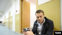 Russia -- Opposition blogger Alexei Navalny at Basmanny District Court during a hearing for extended detention of defendants in the Bolotnaya Square trial, Moscow, 01Mar2013