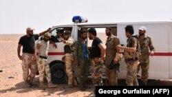 Сирійські проурядові сили в місцевості на захід від Дейр-ез-Зора, ілюстративне фото