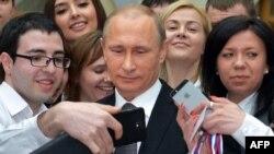 """Селфи с Владимиром Путиным после """"Прямой линии"""" 2015 года"""