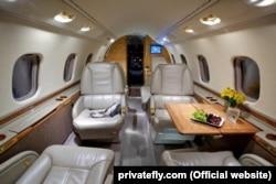 Салон літака Bombardier Learjet 60
