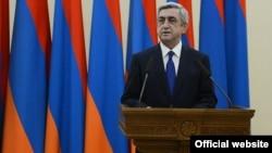 Президент Армении Серж Саргсян (фотография - официальный веб-сайт главы государства)