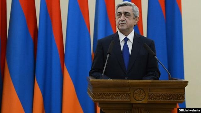 Armenian President Serzh Sarkisian -- running unopposed?