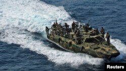 Officials in Washington say that one of the U.S. boats detained in the Persian Gulf had run into mechanical difficulties. (file photo)