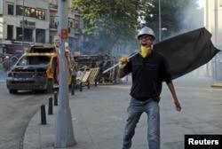 Taksim meydanında etirazlar, 11 iyun 2013