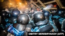 Berkut riot police have been widely criticized for their violent response.