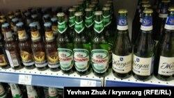 Пиво «Оболонь» в севастопольском супермаркете