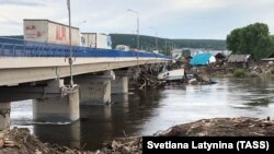 Local authorities said that the floods caused damage to more than 100 towns and villages in the Irkutsk region.