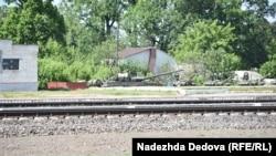 Такое можно увидеть у железнодорожной станции близ Клинцов