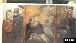 Картина с выставки, посвященной процессу над Михаилом Ходорковским