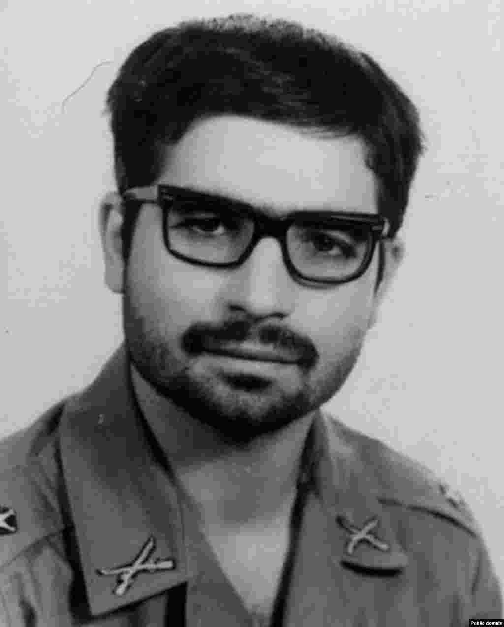 Hassan Rohani, now president of Iran, during his military service. Rohani later studied in Glasgow, Scotland, where he wrote a doctoral thesis on The Flexibility Of Shari'a (Islamic Law) With Reference To The Iranian Experience. A student group later claimed passages had been lifted.
