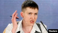 Nadia Savchenko gives her first news in Kyiv conference since being released from Russian captivity.