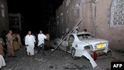 Pamje pas sulmit me makinë-bombë në Sana të Jemenit