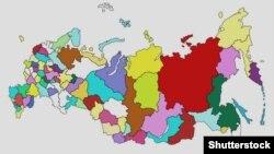 Мапа Російської Федерації (©Shutterstock)