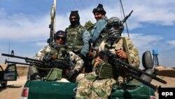 Патруль афганской полиции. Иллюстративное фото