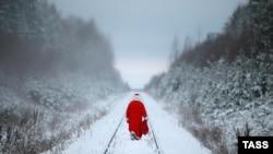 Дед Мороз в Костромской области, декабрь 2014 года