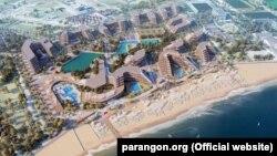 Проект комплексу «Аква Євпаторія», що планують побудувати в Заозерному
