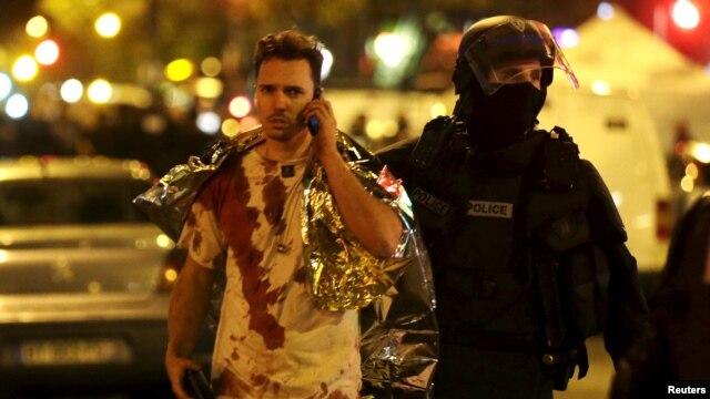 یکی از مجروحان در کنسرت سالن باتاکلان، پاریس