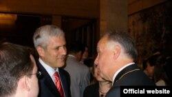 Presednik Srbije Boris Tadić i ruski ambasador Aleksandar Konuzin