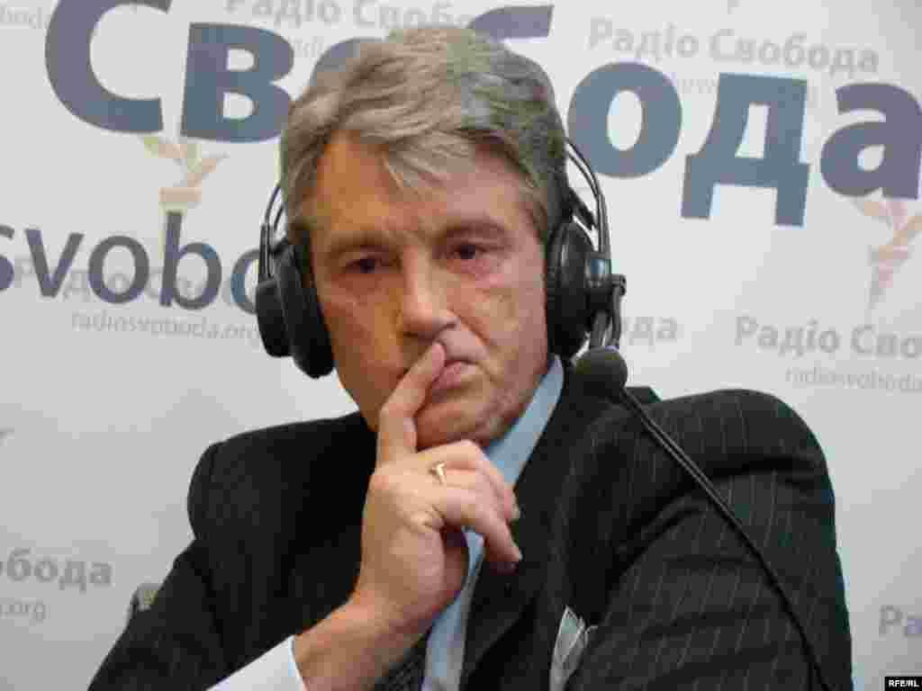 Экс-прэзыдэнт Віктар Юшчанка ў кіеўскім бюро Радыё Свабода