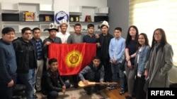 Кипрдеги кыргызстандык жаштар.