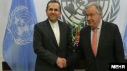 تخت روانچی در مقر سازمان ملل در نیویورک