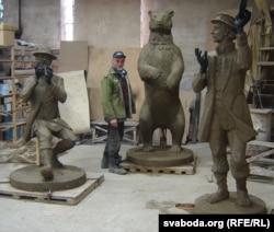 Смаргонскі скульптар Уладзімер Церабун