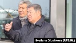 Ахметжан Есимов (на переднем плане) в бытность председателем правления национальной компании «Астана ЭКСПО-2017». Астана, 31 октября 2016 года.