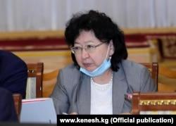 Министр финансов Кыргызстана Бактыгуль Жээнбаева.