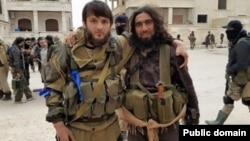 """""""Аджнад аль-Кавказ"""" в Сирии, амир - Рустам Ажиев (слева на фото)"""