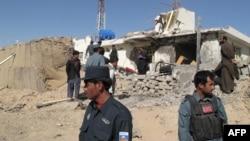 Ауғанстанның Гильменд провинциясындағы террорлық шабуыл жасалған жер. Көрнекі сурет.