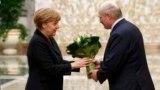 Ангела Мэркель і Аляксандар Лукашэнка