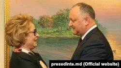 Igor Dodon și Valentina Matvienko