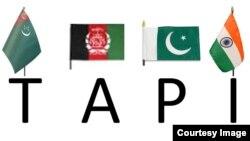 Türkmenistan, Owganystan, Pakistan we Hindistan gaz geçirijisiniň logotipi.