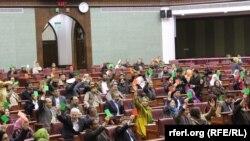 شماری از اعضای ولسی جرگه افغانستان
