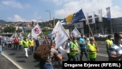 Protest Sindikata protiv najavljenih izmjena Zakona o radu Federacije BiH
