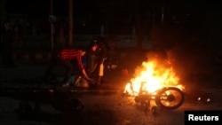 Место взрыва в Лахоре, Пакистан, 13 февраля 2017 года.