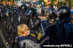 Protest la Hrodna, duminică 6 septembrie 2020.
