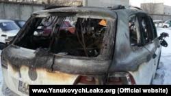 Знищені автомобілі, які фігурують у «чорному списку» охоронця Януковича