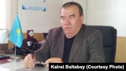 Алматыдағы №4 автопарктің бас директоры Базарбай Юнусов. 18 сәуір 2013 жыл.
