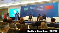 На Казахстанско-китайском туристском форуме в Астане. 28 сентября 2016 года.