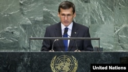 U.S. -- Turkmen Foreign Minister Rashid Meredov addresses the general debate of the sixty-seventh session of the General Assembly at the UN in New York, September 27, 2012