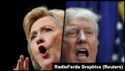 Кандидаты в президенты США Хиллари Клинтон и Дональд Трамп.