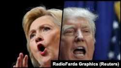 Хиллари Клинтон (слева) и Дональд Трамп