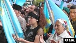 Кримські татари домагаються своїх прав (архівне фото)